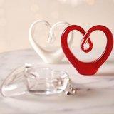 Glas sculptuur HART rood_