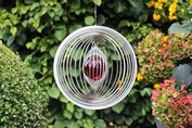 Windspinner model cirkel met 50mm. glas kogel