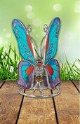 Vlinder sfeerlicht blauw/rood/paars