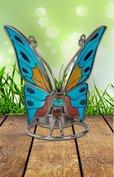 Natuurgetrouwe vlinder met waxlicht houder.
