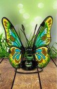 Vlinder met dun koper look randje.
