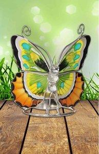 Vlinder waxine licht houder in warme kleuren