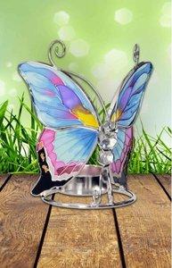 Vlinder in mooie zachte kleuren