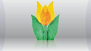 Tulp waxine licht topaas.