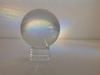10cm kristallen bol op voet  / Paperweight / Presse-papier