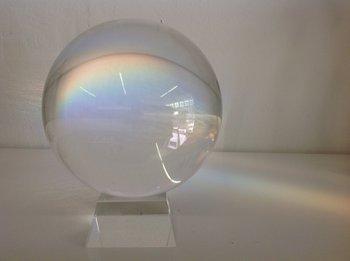 20cm kristallen bol op voet / Paperweight / Presse-papier